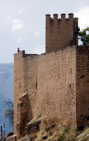 Moorish walls, town of Ronda, province of Malaga, Andalusia, Spain