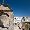 Arch of Philip V, town gate built in 1742, Ronda, province of Malaga, Andalusia, Spain