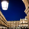 Plaza Mayor or main square by night, town of Salamanca, autonomous community of Castilla and Leon, Spain
