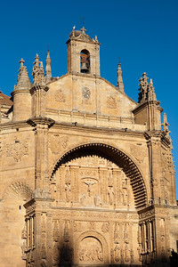 Plateresque facade of San Esteban church, town of Salamanca, autonomous community of Castilla and Leon, Spain