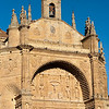 Plateresque facade of San Esteban church, town of Salamanca, autonomous community of Castilla and Leon, Spain