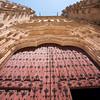 South entrance, New Cathedral, town of Salamanca, autonomous community of Castilla and Leon, Spain