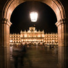 Plaza Mayor (Main Square) by night, town of Salamanca, autonomous community of Castilla and Leon, Spain