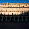 Plaza Mayor (Main Square) in early morning, town of Salamanca, autonomous community of Castilla and Leon, Spain