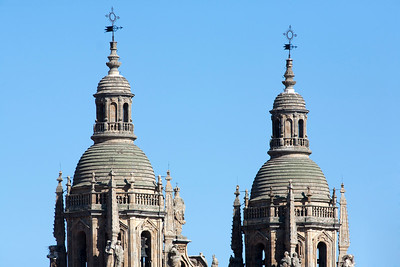 Clergy church twin towers, town of Salamanca, autonomous community of Castilla and Leon, Spain