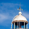 Top of an old lighthouse. Bonanza port, town of Sanlucar de Barrameda, province of Cadiz, Andalusia, Spain.