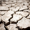 Cracked soil of a dried marshland. Town of Sanlucar de Barrameda, province of Cadiz, Andalusia, Spain.