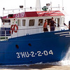 Fishing boat in Bonanza port, town of Sanlucar de Barrameda, province of Cadiz, Andalusia, Spain.