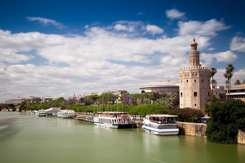 Torre del Oro and Guadalquivir river, Seville, Spain