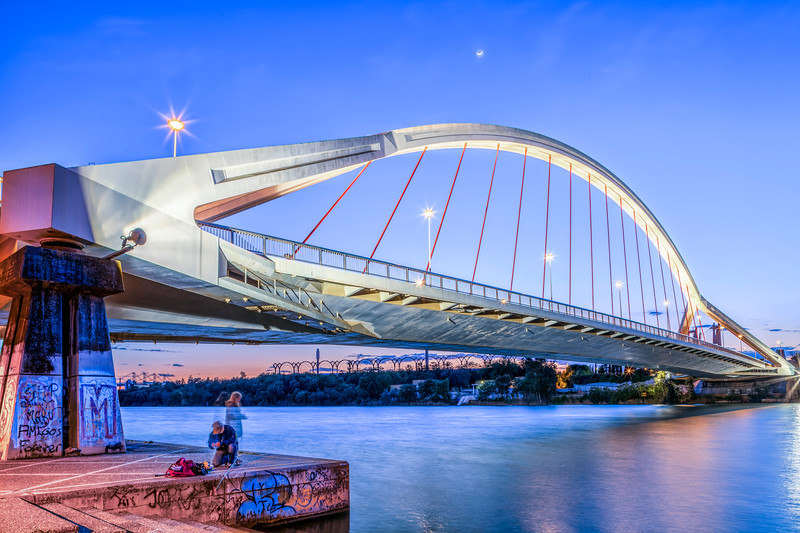 Barqueta Bridge over the Guadalquivir River, Seville, Spain