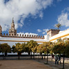 Patio de Banderas square, with the Giralda on the background. Seville, Spain