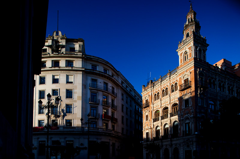 Allianz (left) and Telefonica (right) buildings, Seville, Spain