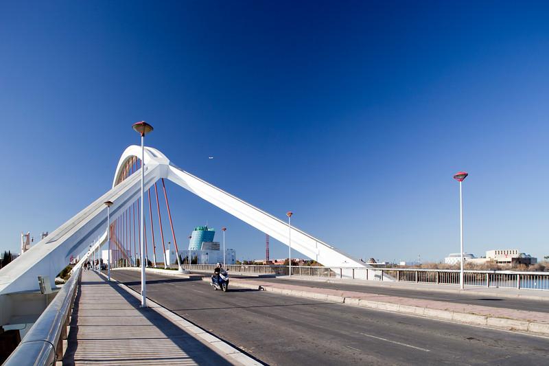 Barqueta Bridge, built for Expo 92. Seville, Spain
