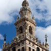 Top of the Giralda tower, Renaissance work by Hernan Ruiz over the Moorish minaret, Seville, Spain