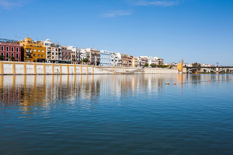 Betis treet by the Guadalquivir river, Seville, Spain