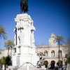 Statue of the king Fernando III, Seville, Spain. Tilted lens used for shallower depth of field.