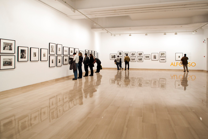 People in a photo exhibition, Seville, Spain