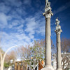 Roman columns, Alameda de Hercules square, Seville, Spain. Tilted lens used for shallower depth of field.