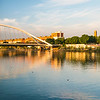 La Barqueta bridge over the Guadalquivir river, Seville, Spain. High resolution panorama.