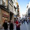 Tetuan street, Seville, Spain. Tilted lens used for shallower depth of field.