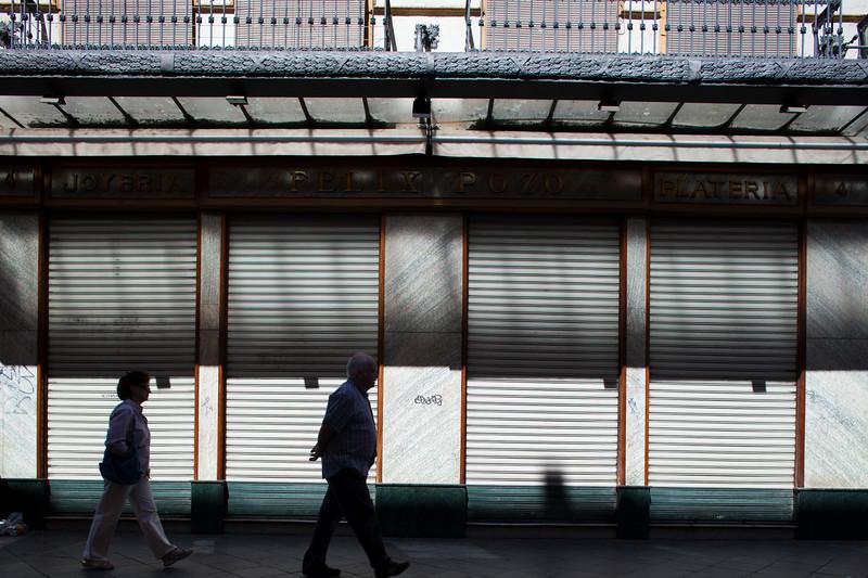 Shut store on Sunday, Seville, Spain