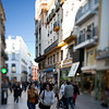 Pedestrians on Tetuan street, Seville, Spain. Tilted lens used for shallower depth of field.