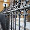 18th century iron railing, San Luis church, Seville, Spain