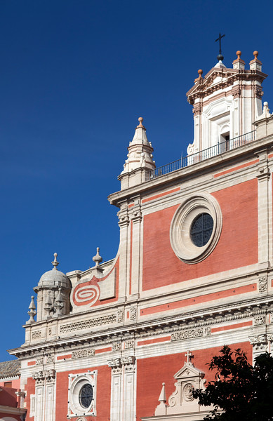 Detail from El Salvador church facade, Seville, Spain