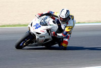 Motorbike race, circuit of Jerez de la Frontera, province of Cadiz, autonomous community of Andalusia, southern Spain.