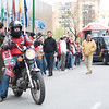 Sevilla FC fan riding a motorcycle