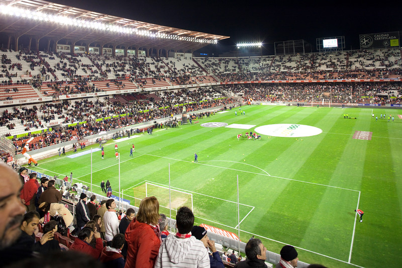 Sanchez Pizjuan stadium. Taken before the football derby between Sevilla FC and Real Betis Balompie that took place on 7 Feb 2009, Seville, Spain.