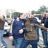 Tottenham fans on tour provoking local fans, Seville, Spain
