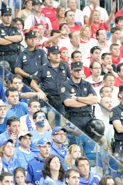 Taken in the Santiago Bernabeu stadium during the Spain's Cup (Copa del Rey) final game between Getafe CF and Sevilla FC, Madrid, 23th June 2007. Sevilla FC won the game 1-0 and got its 4th Spain's Cup.