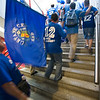 Getafe CF fans going to the Santiago Bernabeu stadium for the Spanish Cup final game against Sevilla FC wich took place in Madrid on 23th June 2007
