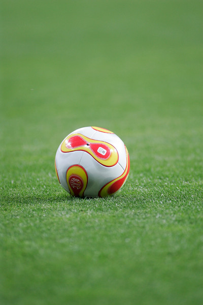 Essential image of a football ball on the field.
