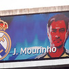 The image of Jose Mourinho on the electronic scoreboard before the UEFA Champions League Semifinals game between Real Madrid and FC Barcelona, Bernabeu Stadiumn, Madrid, Spain