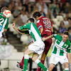 Fazio (Sevilla) scoring a goal with the head. Local derby between Real Betis and Sevilla FC, Ruiz de Lopera stadium, Seville, Spain, 11 May 2008.