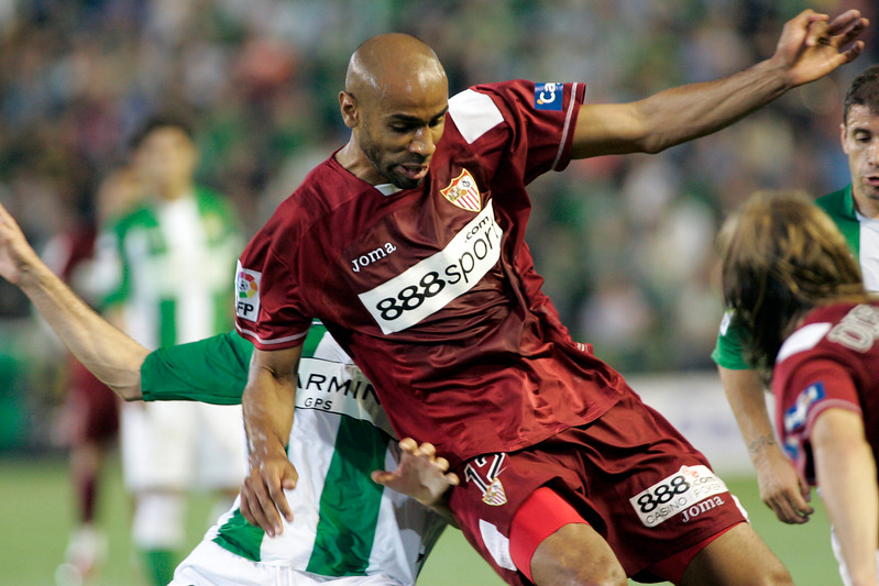 Kanoute (Sevilla). Local derby between Real Betis and Sevilla FC, Ruiz de Lopera stadium, Seville, Spain, 11 May 2008.