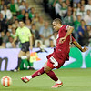 Luis Fabiano (Sevilla) scoring a goal. Local derby between Real Betis and Sevilla FC, Ruiz de Lopera stadium, Seville, Spain, 11 May 2008.