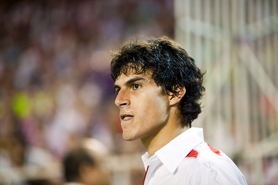 Close-up of Diego Perotti. Spanish League game between Sevilla FC and Real Madrid, Sanchez Pizjuan Stadium, Seville, Spain, 4 October 2009