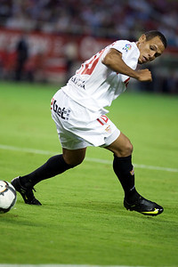 Luis Fabiano. Spanish League game between Sevilla FC and Real Madrid, Sanchez Pizjuan Stadium, Seville, Spain, 4 October 2009