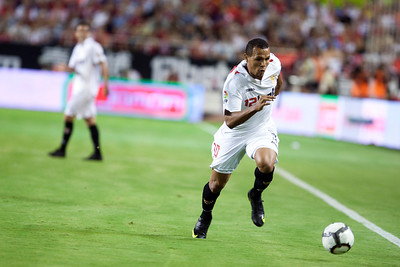Luis Fabiano with the goal. Spanish League game between Sevilla FC and Real Madrid, Sanchez Pizjuan Stadium, Seville, Spain, 4 October 2009