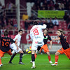 Negredo scores a goal. Spanish Liga game between Sevilla FC and Valencia CF. Sanchez Pizjuan stadium, Seville, Spain, 31 January 2010
