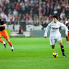 Diego Perotti with the ball. Spanish Liga game between Sevilla FC and Valencia CF. Sanchez Pizjuan stadium, Seville, Spain, 31 January 2010