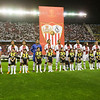 The players forming before the UEFA Champions League first knockout round game (second leg) between Sevilla FC (Seville, Spain) and Fenerbahce (Istambul, Turkey), Sanchez Pizjuan stadium, Seville, Spain, 04 March 2008.