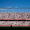 Tifo done by Sevilla FC fans before the Spanish Liga football game between Sevilla FC and Real Madrid CF that took place at Sanchez Pizjuan stadium, Seville, Spain, on 26 April 2009