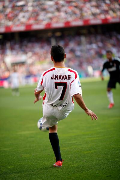 Jesus Navas (Sevilla). Spanish Liga football game between Sevilla FC and Real Madrid CF that took place at Sanchez Pizjuan stadium, Seville, Spain, on 26 April 2009