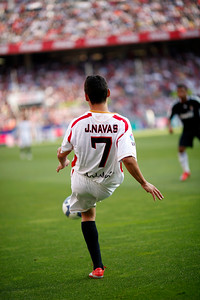 Jesus Navas (Sevilla). Spanish Liga football game between Sevilla FC and Real Madrid CF that took place at Sanchez Pizjuan stadium, Seville, Spain, on 26 April 2009