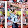 Real Madrid's goalkeeper, Iker Casillas, clearing a ball. Spanish Liga football game between Sevilla FC and Real Madrid CF that took place at Sanchez Pizjuan stadium, Seville, Spain, on 26 April 2009