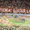 Sevilla FC fans making a tifo